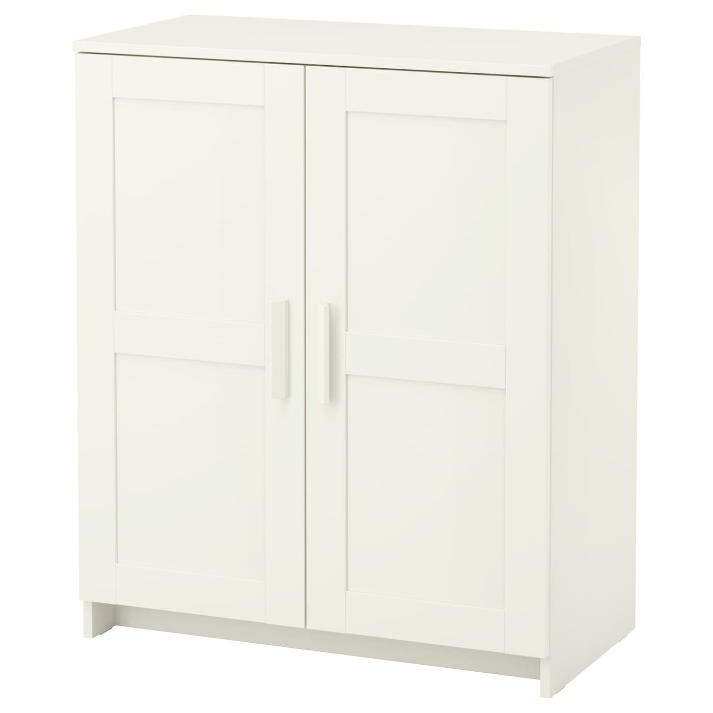 Brimnes cabinet with doors white 78x95 cm ikea - Ikea cabinet doors on existing cabinets ...