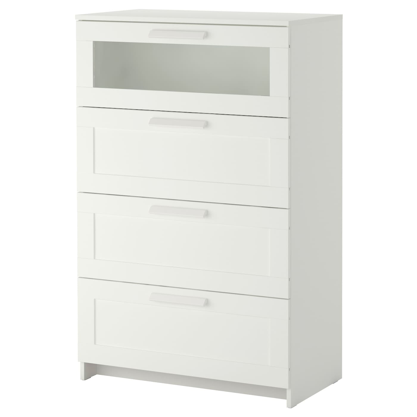 Ikea Brimnes Chest Of 4 Drawers Smooth Running With Pull Out Stop