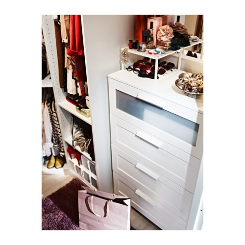brimnes chest of 4 drawers white frosted glass 78x124 cm ikea. Black Bedroom Furniture Sets. Home Design Ideas