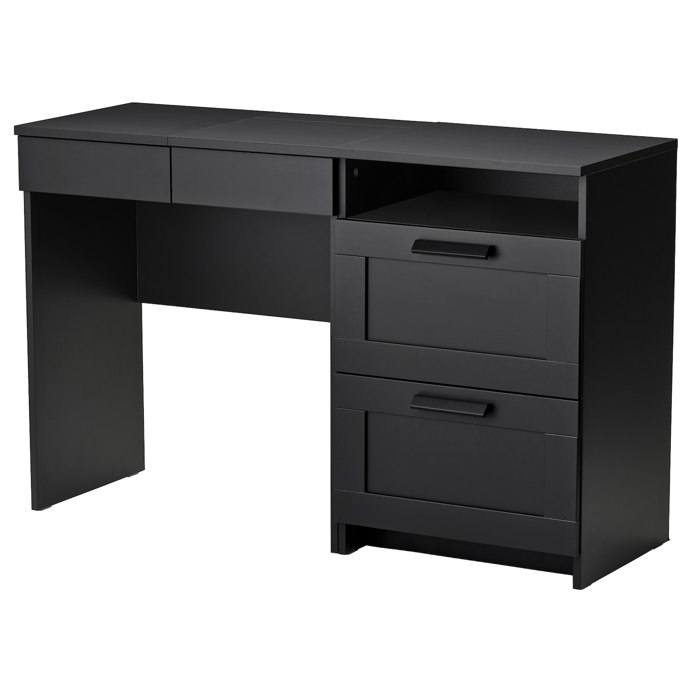 brimnes dressing table chest of 2 drawers black ikea. Black Bedroom Furniture Sets. Home Design Ideas