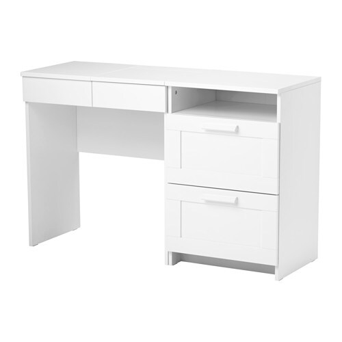 Ikea Schuhschrank Dunkelbraun ~ BRIMNES Dressing table + chest of 2 drawers IKEA Built in mirror with