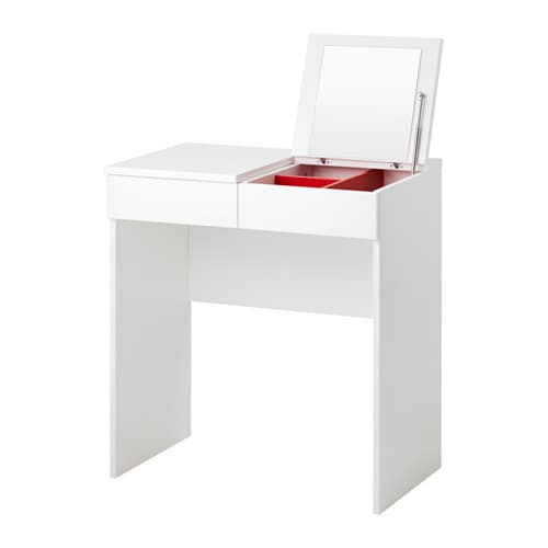 Brimnes dressing table white 70x42 cm ikea for Table de toilette acrylique ikea