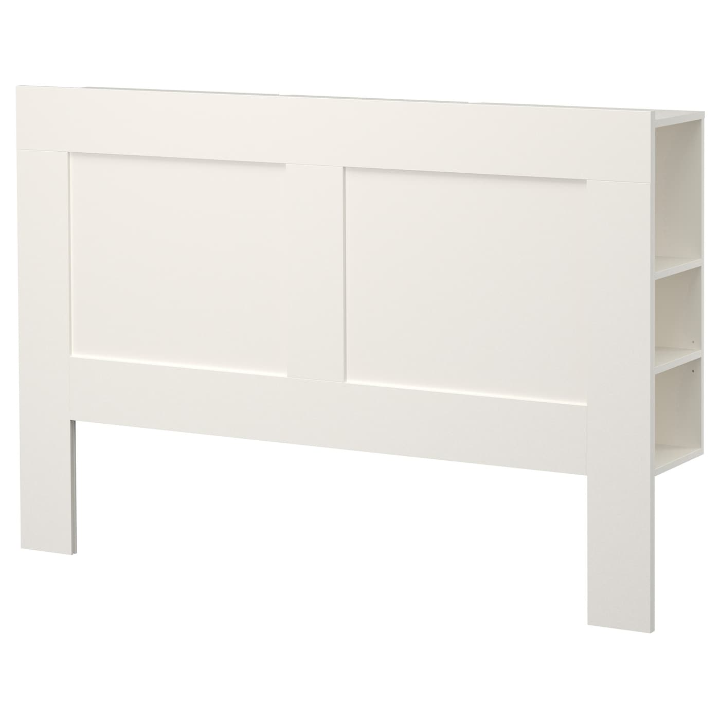 Brimnes headboard with storage compartment white standard for 120 bett ikea