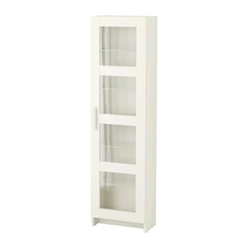 Ikea Garderobekast Verlichting ~ BRIMNES High cabinet with glass door White 39×142 cm  IKEA