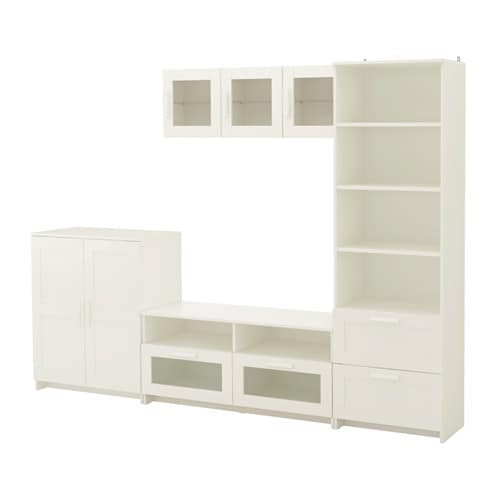 brimnes tv storage combination white 260x41x190 cm ikea. Black Bedroom Furniture Sets. Home Design Ideas