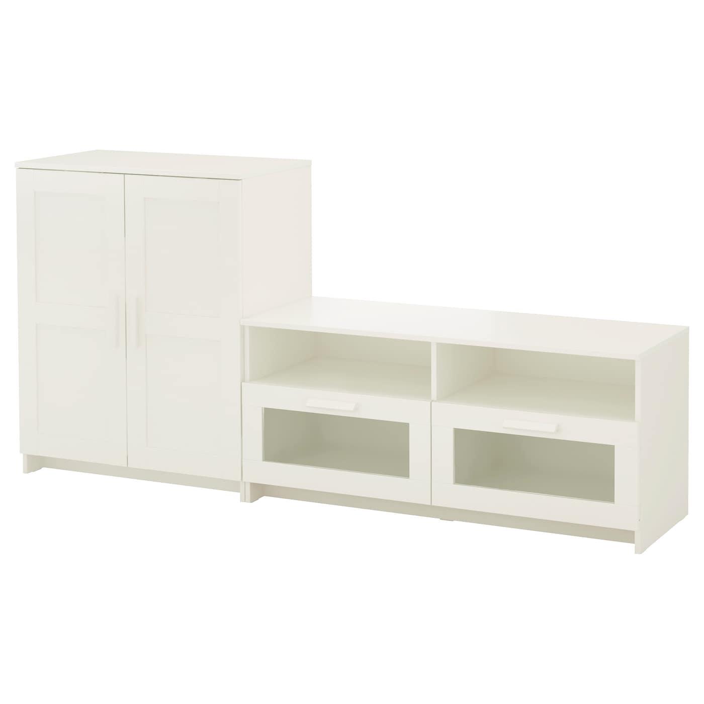 BRIMNES TV storage combination White 200x41x95 cm IKEA