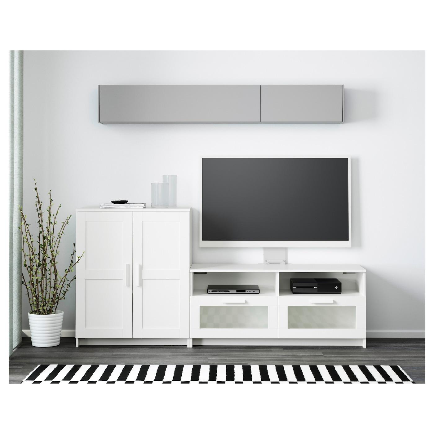 brimnes tv storage combination white 200 x 41 x 95 cm ikea. Black Bedroom Furniture Sets. Home Design Ideas