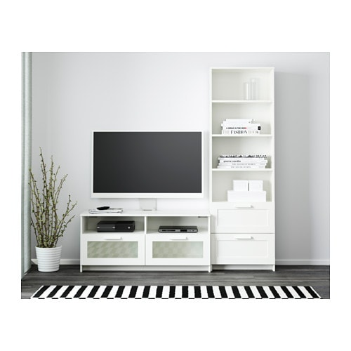 IKEA BRIMNES TV storage combination Adjustable shelves, so you can