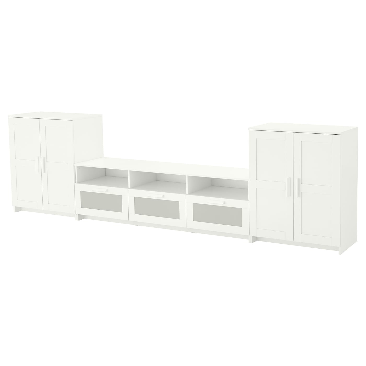 IKEA BRIMNES TV storage combination Adjustable shelves, so you can customise your storage as needed.