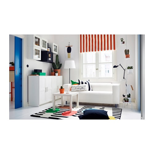BRIMNES Wall cabinet with glass door White 39×39 cm