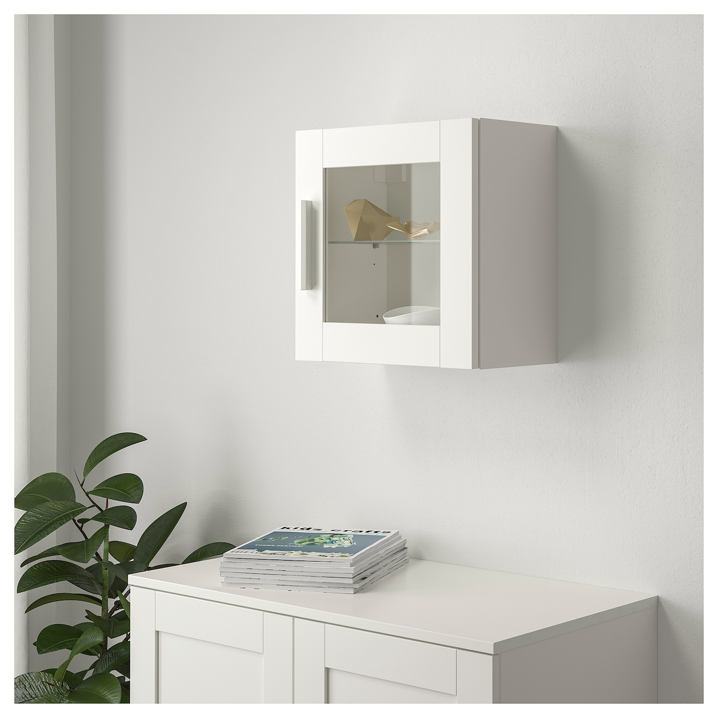 Brimnes wall cabinet with glass door white 39x39 cm ikea for Ikea glass door wall cabinet