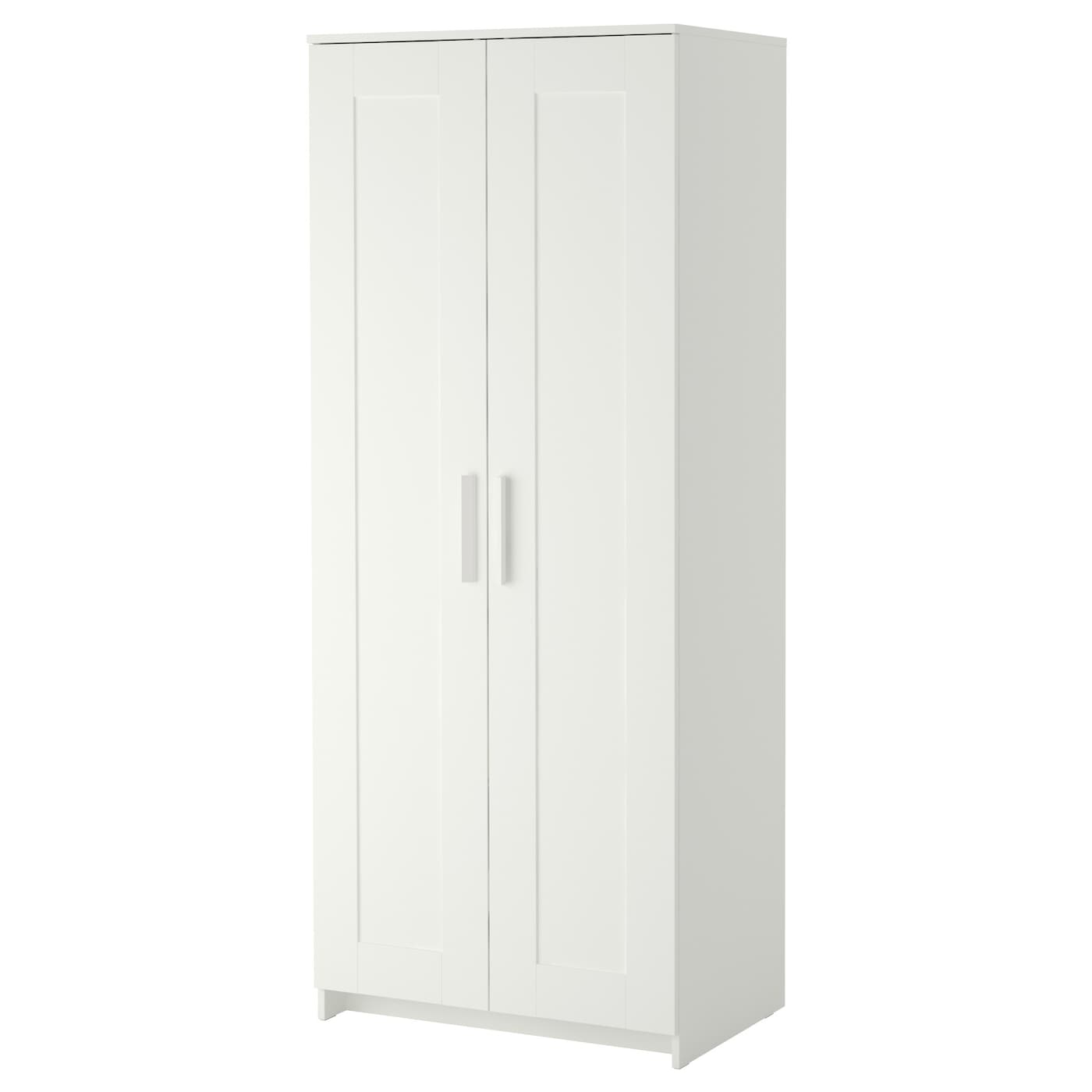 Brimnes wardrobe with 2 doors white 78x190 cm ikea for Schrank 60 breit 30 tief