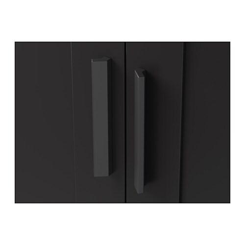 Wardrobe with 3 doors BRIMNES Black