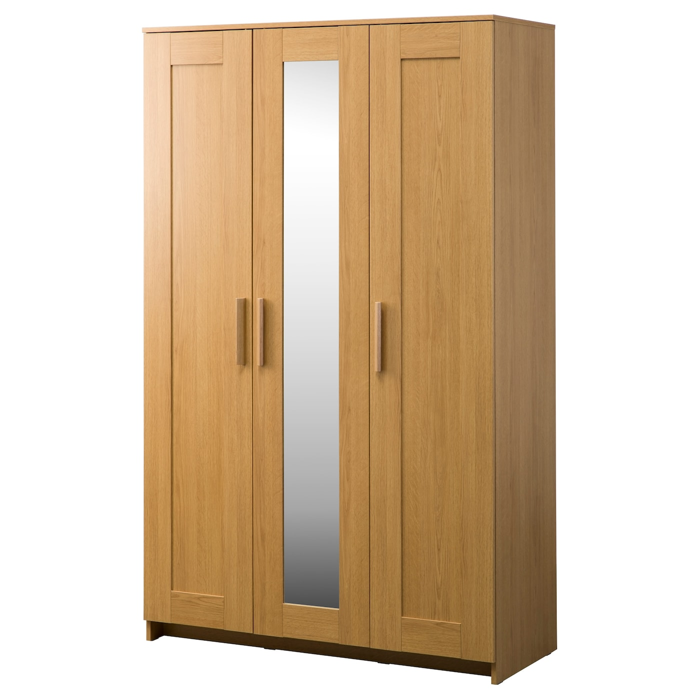 brimnes wardrobe with 3 doors oak effect 117x190 cm ikea