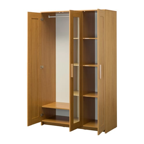 IKEA BRIMNES wardrobe with 3 doors Adjustable hinges ensure that the doors  hang straight.
