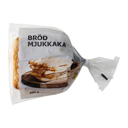 BRÖD MJUKKAKA Soft wheat bread, frozen IKEA A bread type from the north of Sweden.   Serve as an open sandwich with optional toppings.
