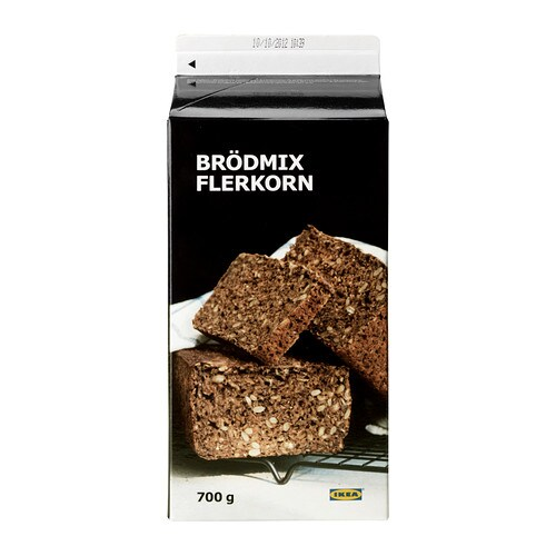 BRÖDMIX FLERKORN Multigrain bread baking mix IKEA A full-bodied multigrain bread kit - just add water! Serve with butter and optional toppings.