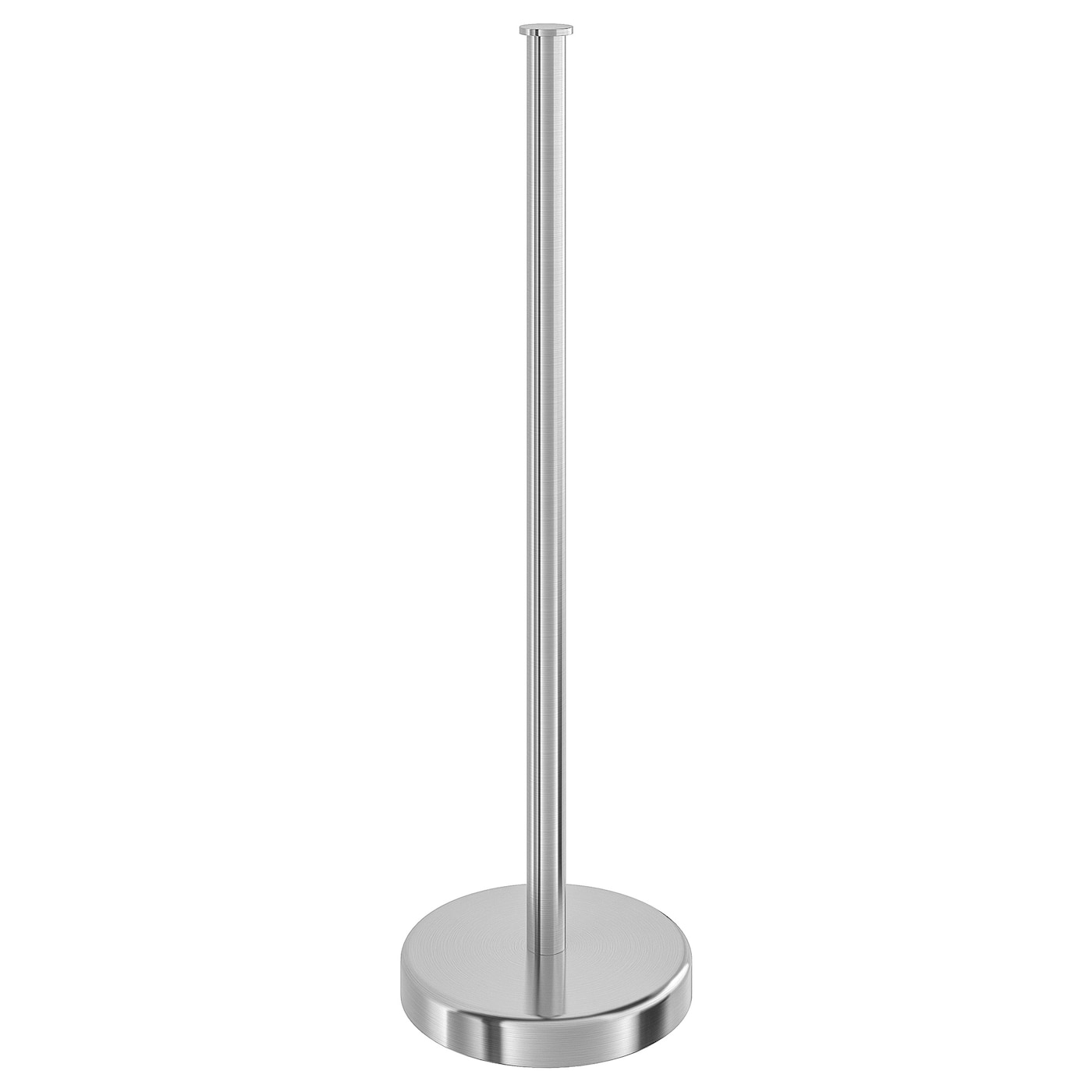 IKEA BROGRUND toilet roll stand Made from stainless steel that is durable and easy to clean.
