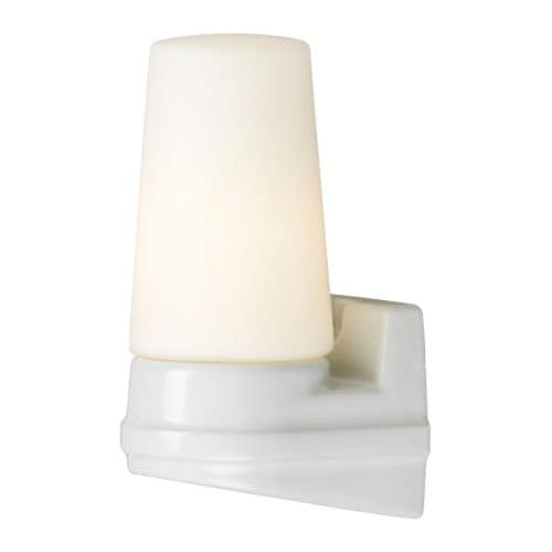 BROMÖLLA Wall lamp IKEA Diffused light; gives a general light.  Mouth blown glass; each lamp is unique.