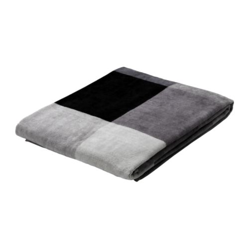 IKEA BRUNKRISSLA bath sheet The long, fine fibres of combed cotton create a soft and durable towel.