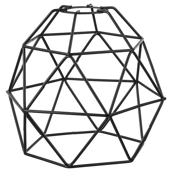 BRUNSTA Pendant lamp shade, black, 20 cm