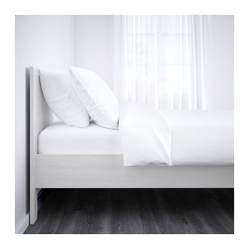 IKEA BRUSALI bed frame Adjustable bed sides allow you to use mattresses of different thicknesses.