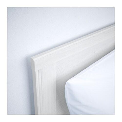brusali bed frame with 2 storage boxes white lur y 140x200 cm ikea. Black Bedroom Furniture Sets. Home Design Ideas