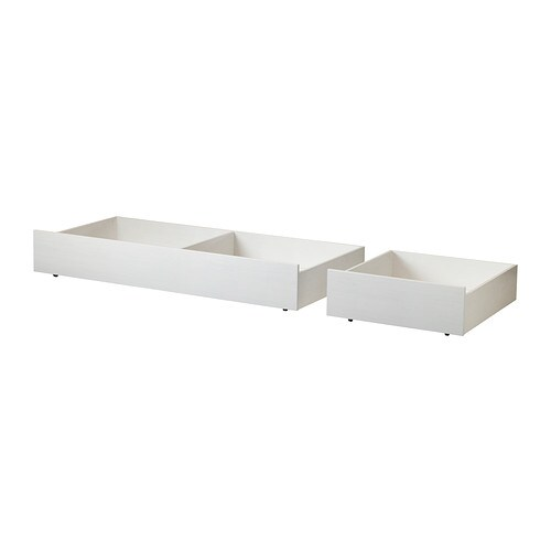 BRUSALI Bed storage box, set of 2 IKEA You get a lot of extra storage under the bed frame if you complement with 2 or 4 bed storage boxes.