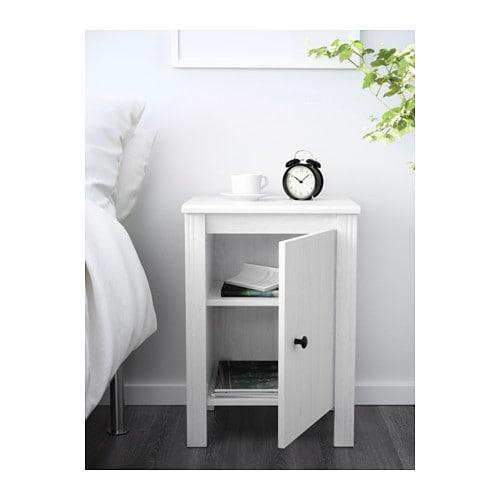 BRUSALI Bedside Table White X Cm IKEA - White bedside table ikea