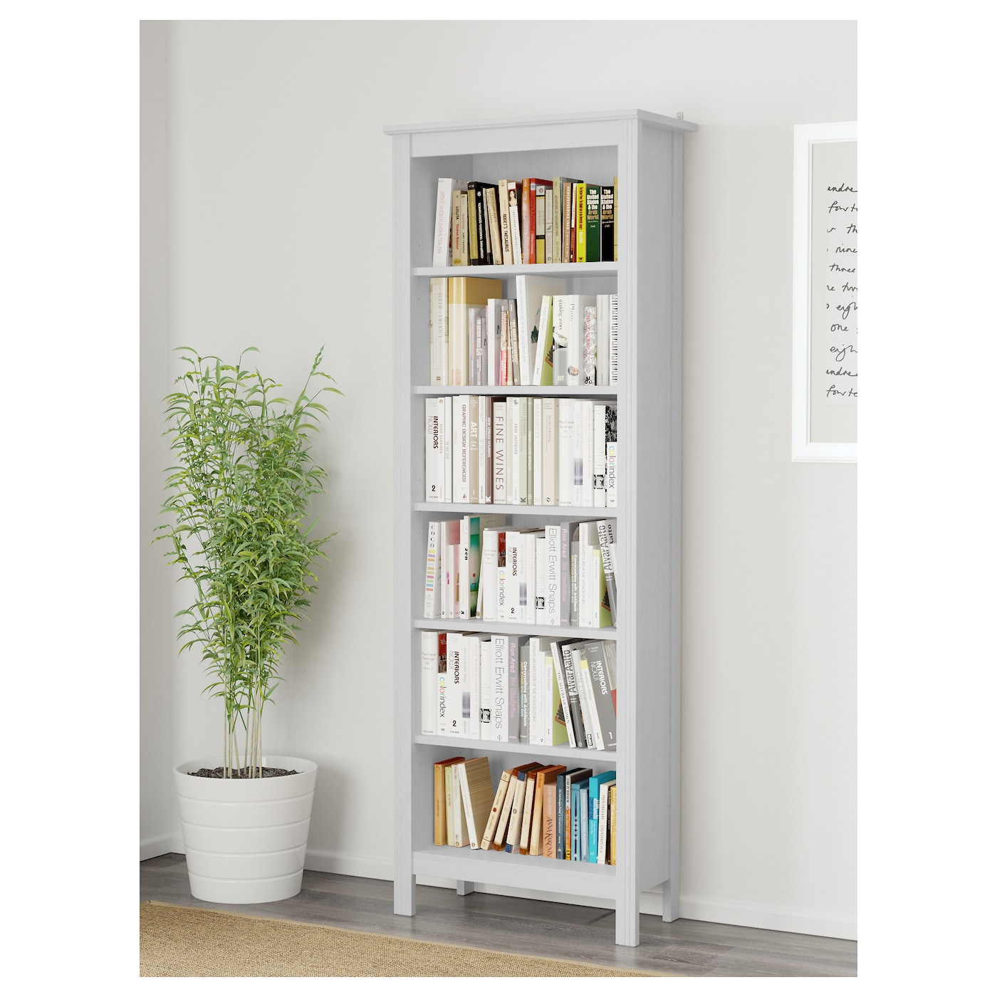 brusali bookcase white 67x190 cm ikea. Black Bedroom Furniture Sets. Home Design Ideas