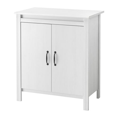 Ikea Brusali Cabinet With Doors Adjule Shelves So You Can Customise Your Storage As Needed