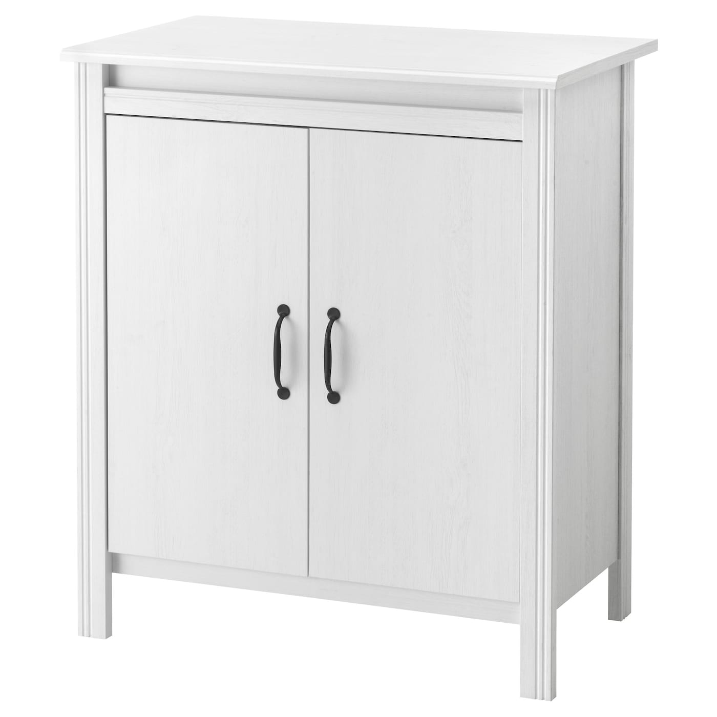 Brusali cabinet with doors white 80x93 cm ikea for Sideboard 2 m breit
