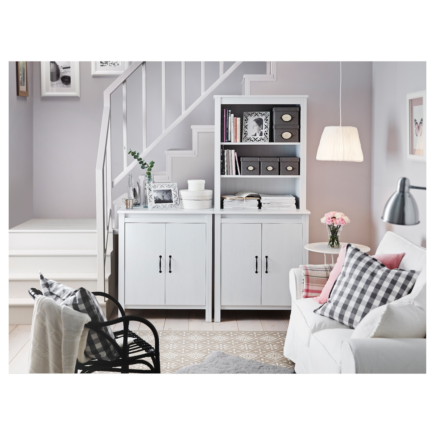 BRUSALI Cabinet with doors White 80x93 cm - IKEA