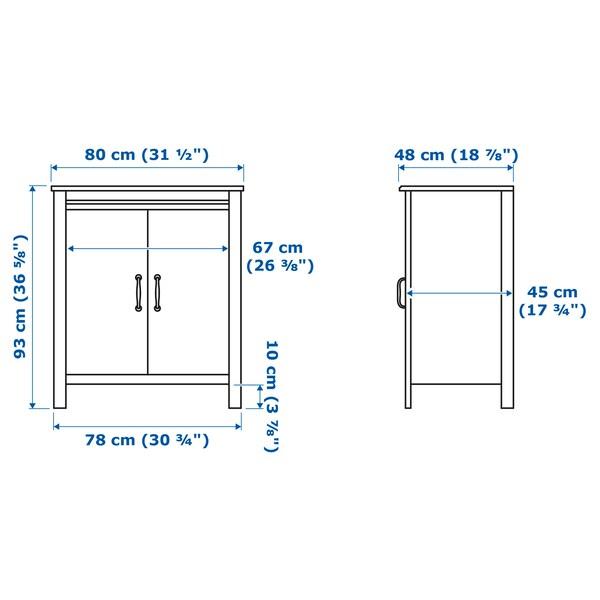 IKEA BRUSALI Cabinet with doors
