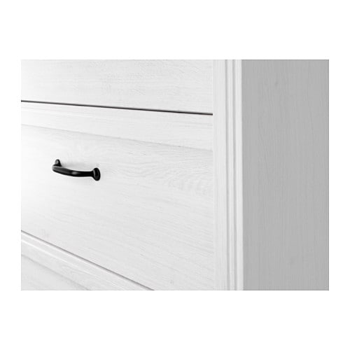 IKEA BRUSALI chest of 3 drawers Smooth running drawers with pull-out stop.