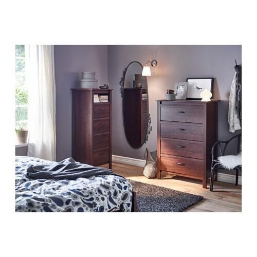 brusali chest of 4 drawers brown 80x117 cm ikea. Black Bedroom Furniture Sets. Home Design Ideas