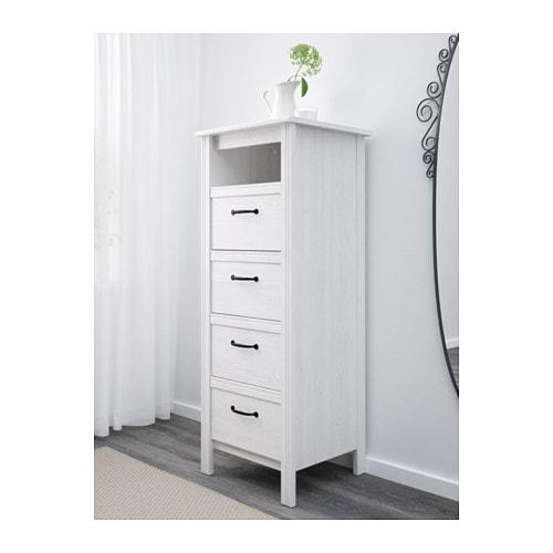 Brusali chest of 4 drawers white 51x134 cm ikea - Mueble malm ikea ...