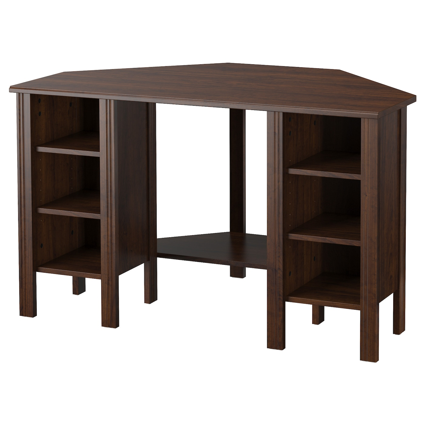 Brusali corner desk brown 120x73 cm ikea - Corner desks with shelves ...
