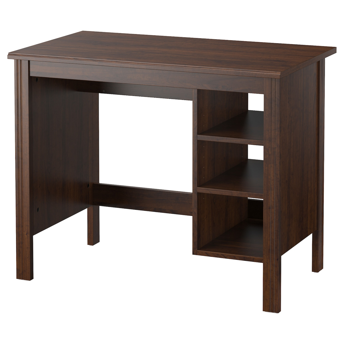 Brusali desk brown 90x52 cm ikea for Ikea drawing desk