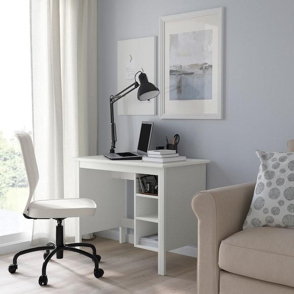 Brusali Desk White 90x52 Cm Ikea