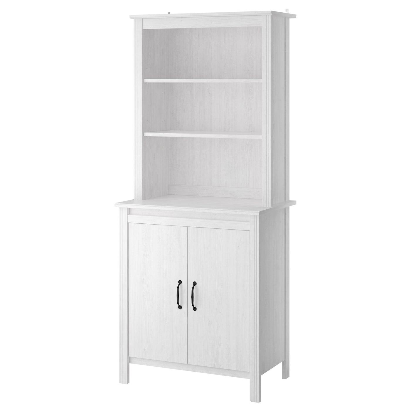 Brusali high cabinet with door white 80x190 cm ikea for Ikea storage cabinets kitchen
