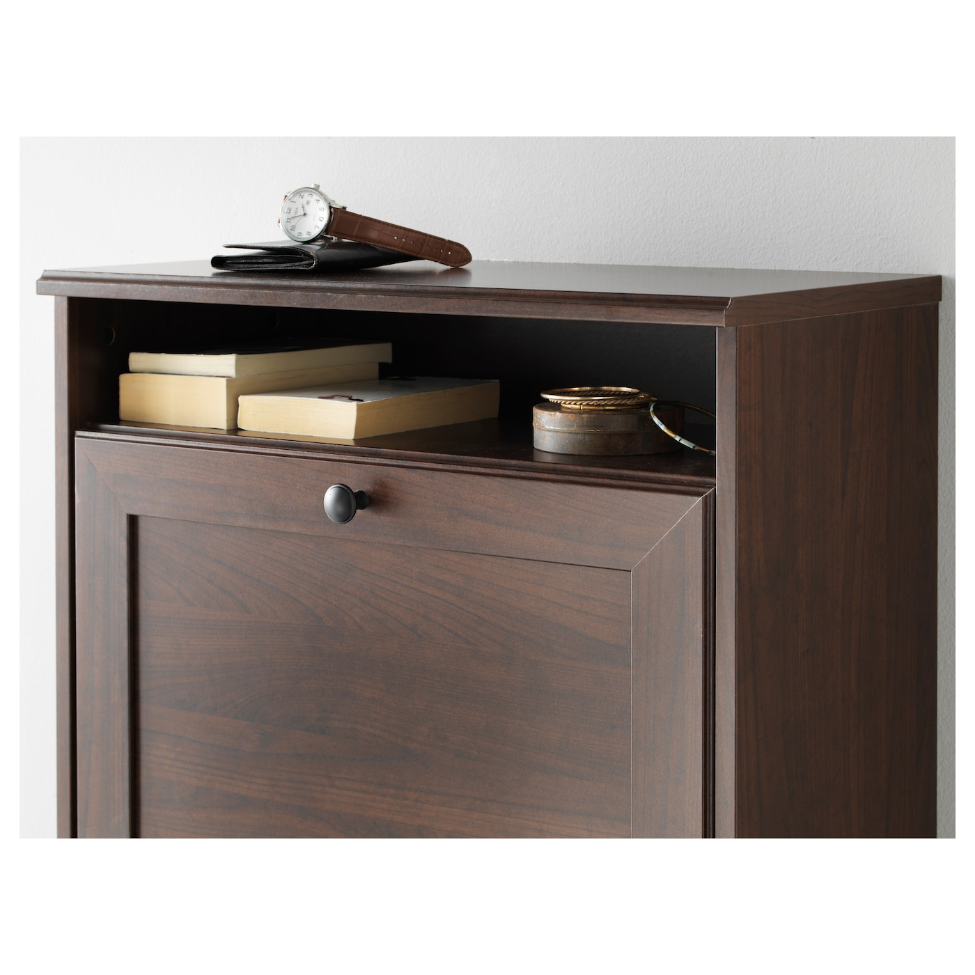 brusali shoe cabinet with 3 compartments brown 61 x 130 cm ikea. Black Bedroom Furniture Sets. Home Design Ideas