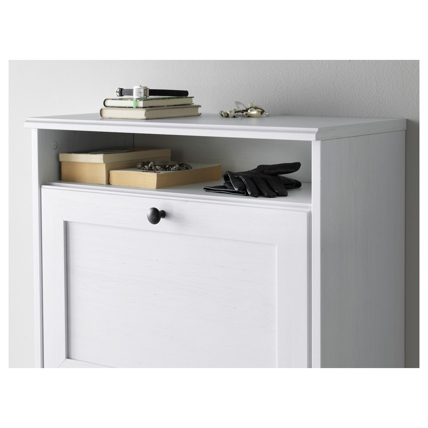 ikea shoe cabinet brusali shoe cabinet with 3 compartments white 61 x 130 cm 17733