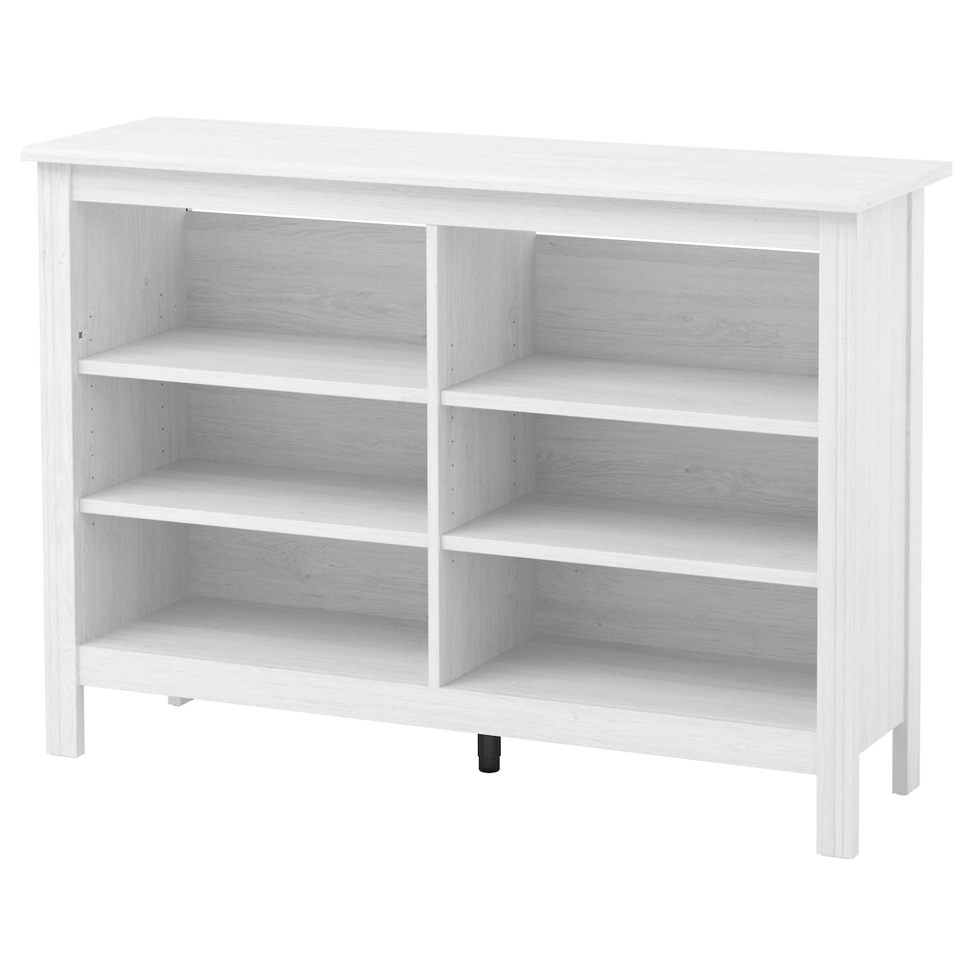Brusali tv bench white 120x85 cm ikea for Mueble bar ikea