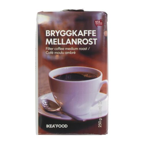 BRYGGKAFFE MELLANROST Filter coffee, medium roast IKEA UTZ Certified; ensures sustainable farming standards and fair conditions for workers.