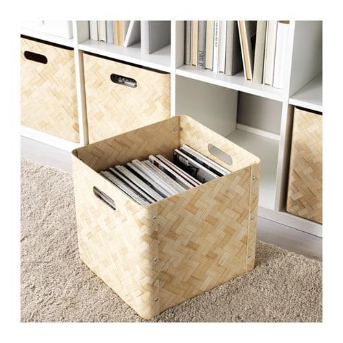 bullig box bamboo 33x35x32 cm ikea. Black Bedroom Furniture Sets. Home Design Ideas