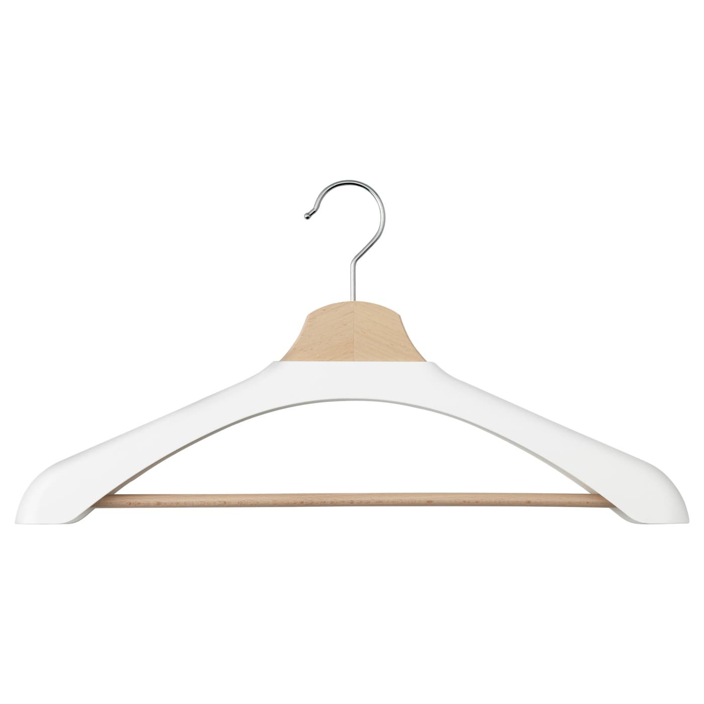 Bumerang shoulder shaper for hanger white ikea for Ikea clothes hangers