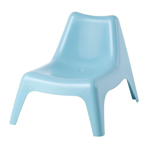 IKEA BUNSÖ children's easy chair, outdoor Can be stacked, which helps you save space.