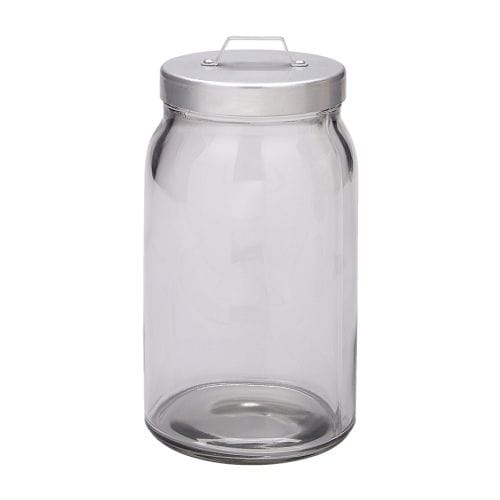 BURKEN Jar with lid IKEA The transparent jar makes it easy to find what you are looking for, regardless of where it is placed.