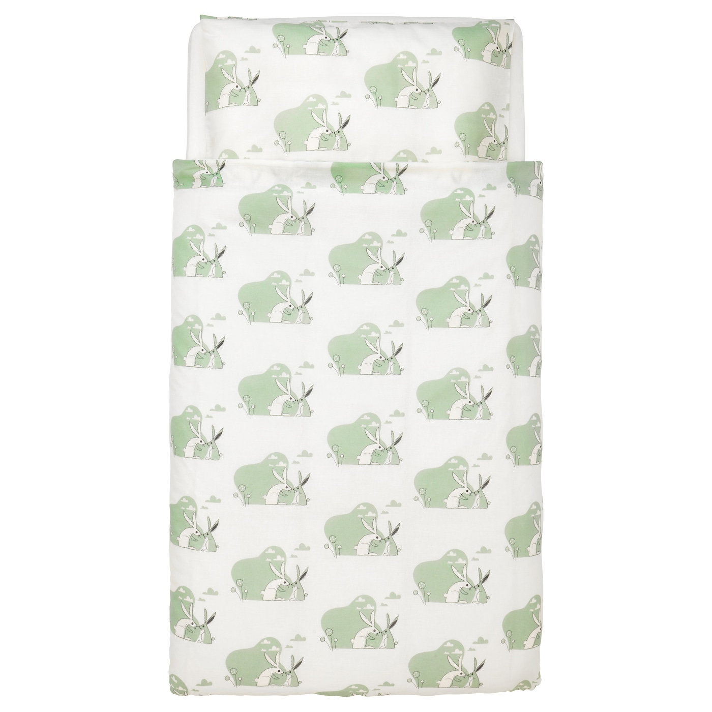IKEA BUSSIG quilt cover/pillowcase for cot Easy to keep clean; machine wash hot (60°C).